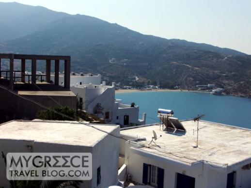 Hotel Hermes Ios view of Mylopotas beach