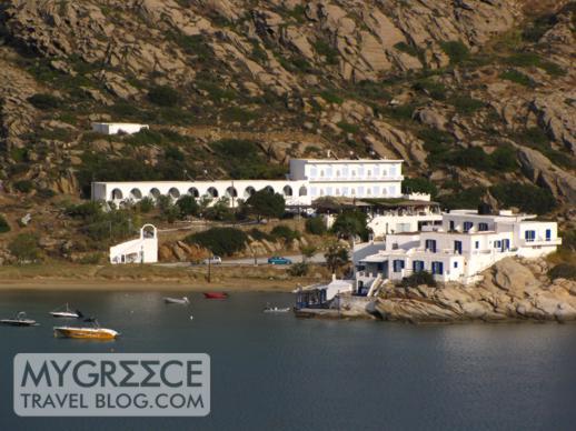 Hotel Hermes view of Drakos Fish Taverna