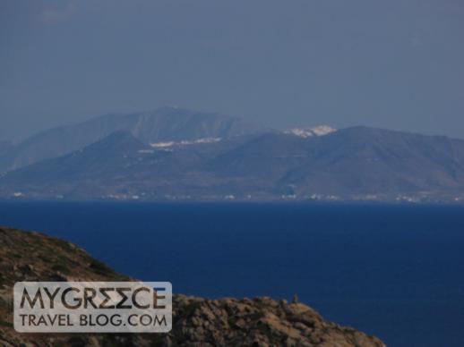 Hotel Hermes Room 2 balcony view towards Santorini