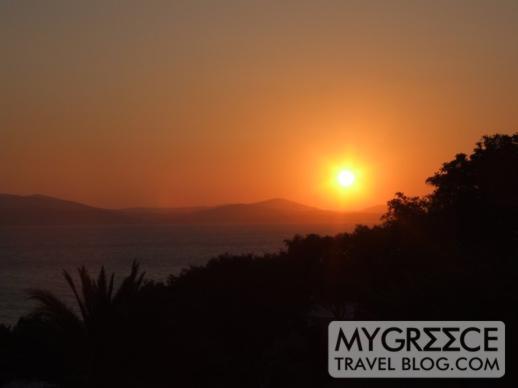 Hotel Kavos Naxos sunset view