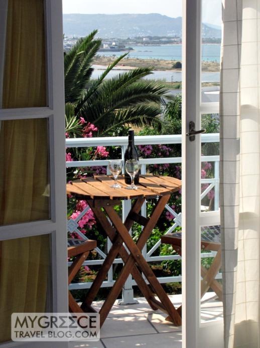 Lianos Village hotel room balcony