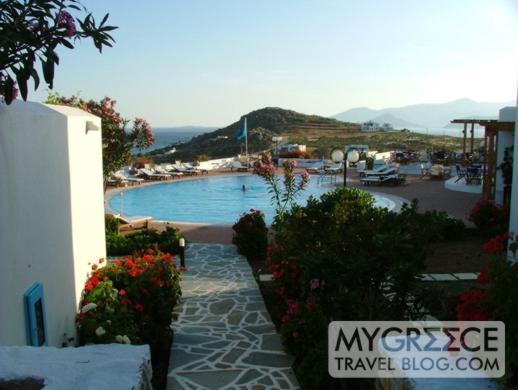 Lianos Village pool terrace views