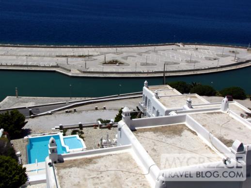 Mykonos Town waterfront marina