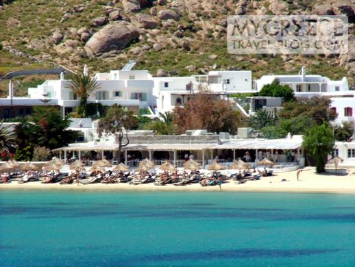 Nammos restaurant and bar at Psarou beach Mykonos