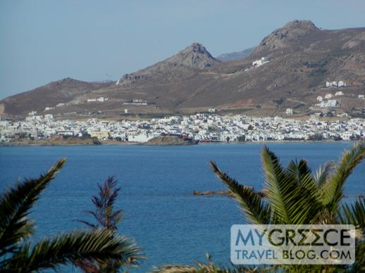 Naxos Beach Hotel II view of Naxos Town