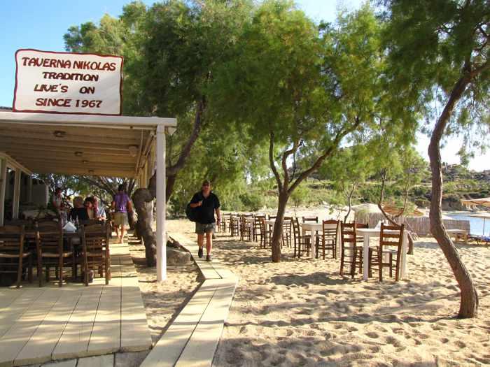 Nikolas Taverna at Agia Anna beach on Mykonos