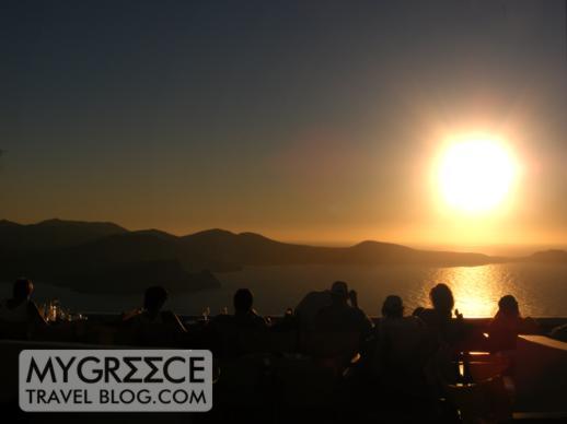 Sunset viewing on Milos