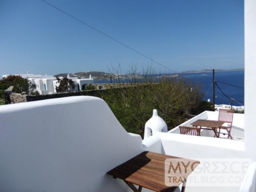 Room 19 terrace at Hotel Tagoo Mykonos