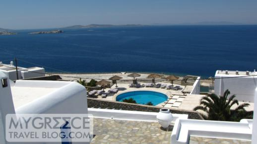 The view from Hotel Tagoo Mykonos