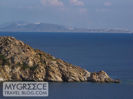 Oia Santorini viewed from Hotel Hermes on Ios
