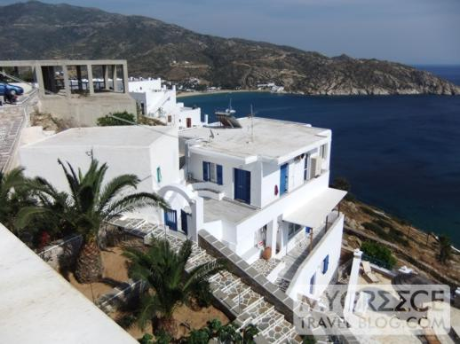 Hotel Hermes Ios cafe-bar terrace view
