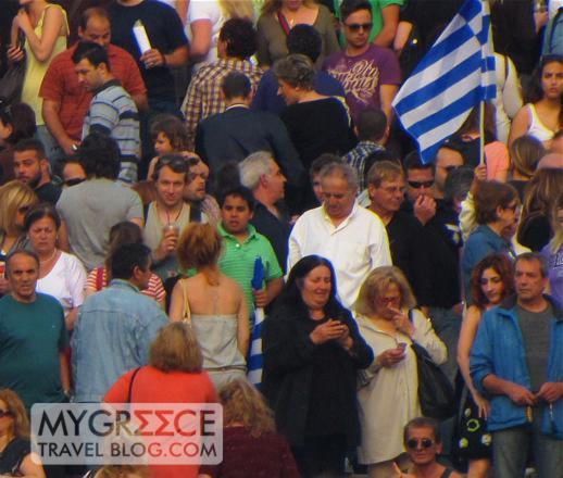 Athens Syntagma Square protesters