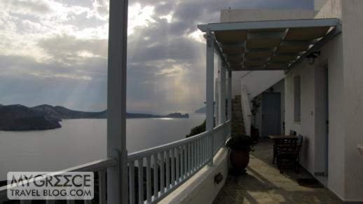 view from Halara Studios Milos