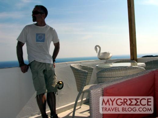 Hotel Hermes Ios cafe-bar deck