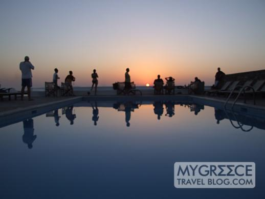 Hotel Tagoo Mykonos sunset view