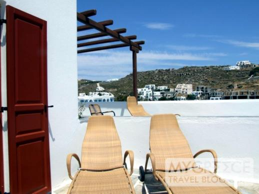 Petasos Beach Resort Room 183 terrace