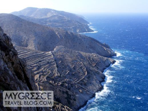 Folegandros island coastline