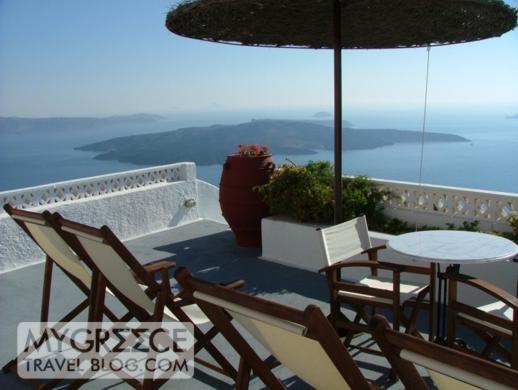 Grotto Villas hotel room terrace view