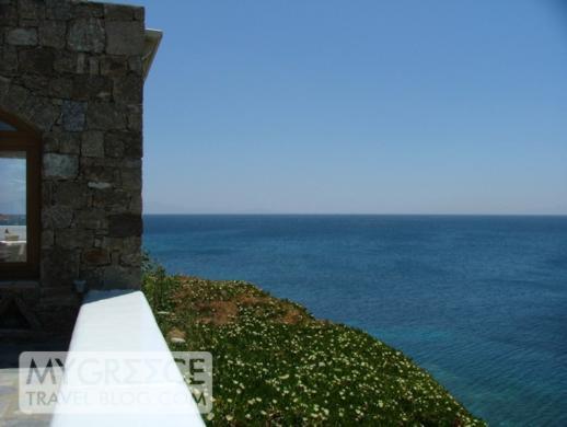 Petasos Beach Resort pool deck view