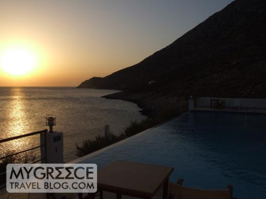 Delfini Hotel Sifnos sunset view