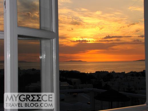 sunset view from the Rochari Hotel