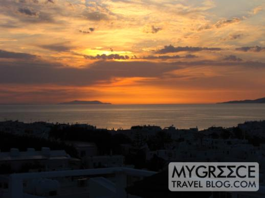 Rochari Hotel Mykonos sunset view