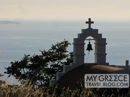 church belltower in Mykonos