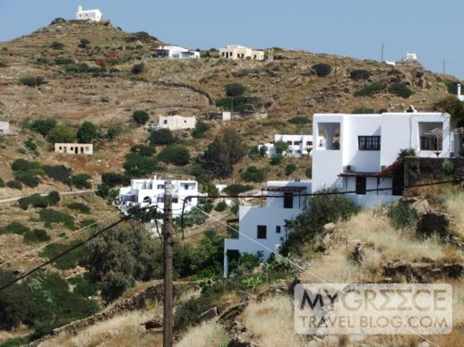 the hillside between Chora and the Hotel Hermes Ios
