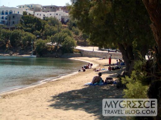 Piso Livadi beach on Paros Island