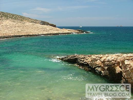 coastline of Paros island Greece