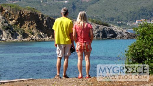 Andromeda Hotel Samos seaside sunbathing area
