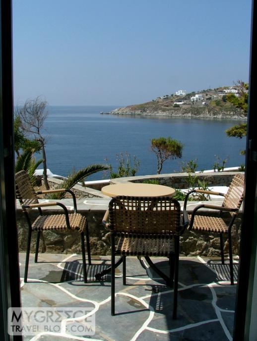 Petasos Beach Resort Mykonos Room P208 terrace