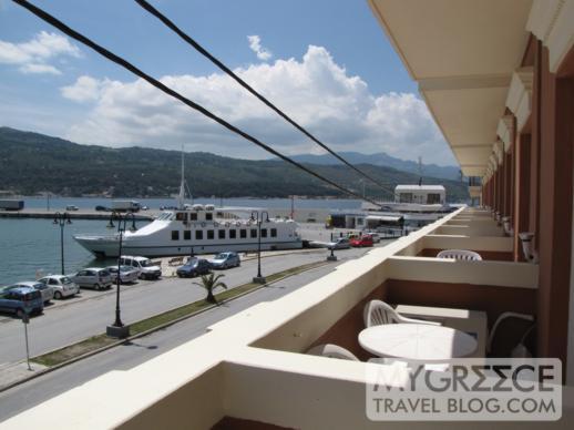 Samos Hotel balcony view