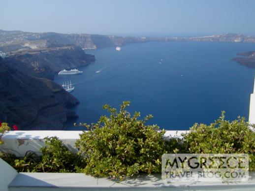 Phenix apartments and cliff houses on Santorini
