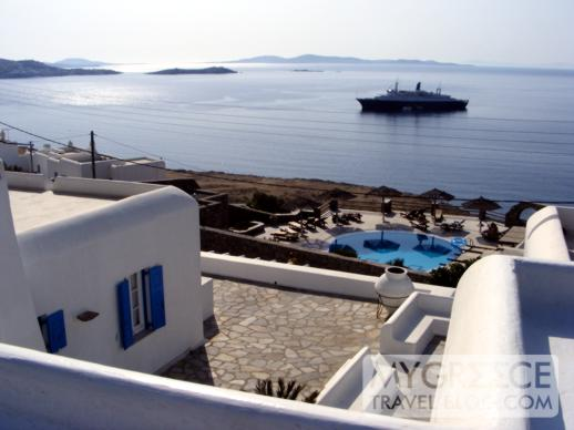 Hotel Tagoo Mykonos views