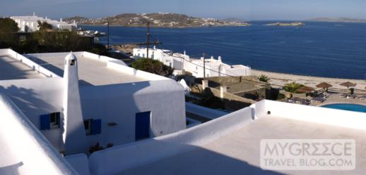Hotel Tagoo Mykonos swimming pool view