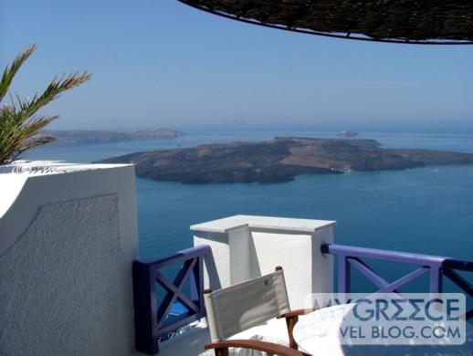 volcano view from Grotto Villas Room 110
