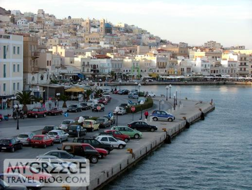 Ermoupoli port on Syros