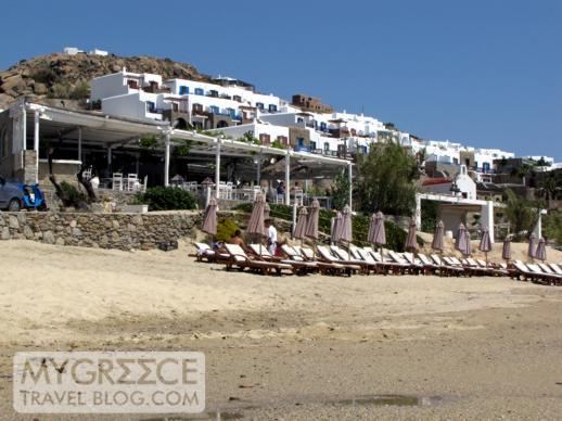 Hippie Fish taverna at Agios Ioannis beach on Mykonos