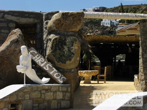 Christos taverna at Agios Ioannis beach Mykonos