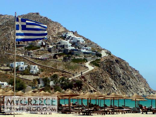 Elia beach on Mykonos