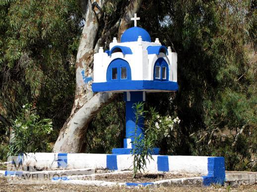 memorial shrine on Patmos island