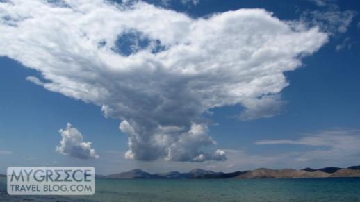 Cloud over Pserimos island