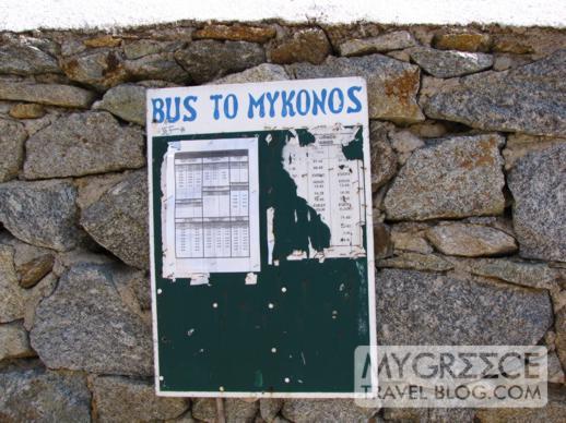 Ag Ioannis Mykonos bus stop