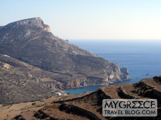 Agali Bay on Folegandros
