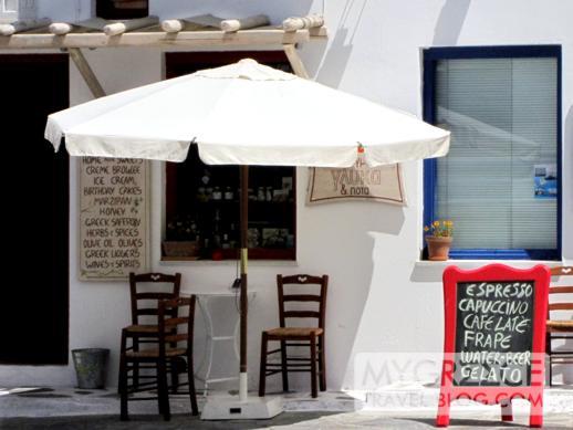 Mandarini cafe + dessert shop in Mykonos Town