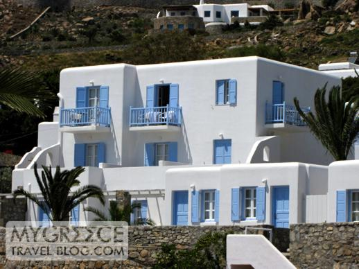 Manoulas Beach Hotel at Ag Ioannis beach on Mykonos