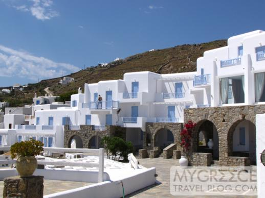 Manoulas Beach Hotel at Ag Ioannis beach on Mykonos