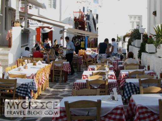 Nikos Taverna in Mykonos Town