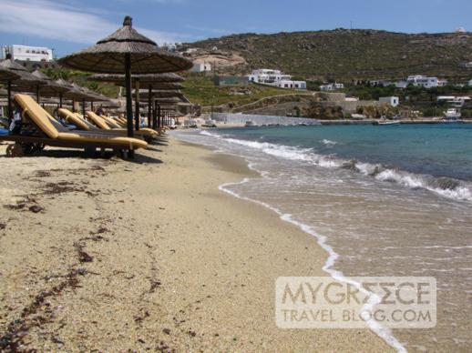 Ornos beach on Mykonos